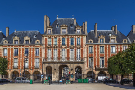 Building on Place des Vosges in Paris, France