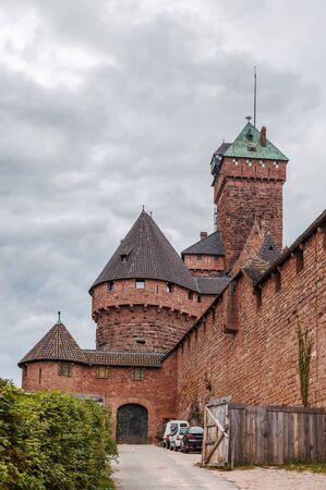 haut: Haut-Koenigsbourg Castle is a medieval castle located at Orschwiller, Alsace, France
