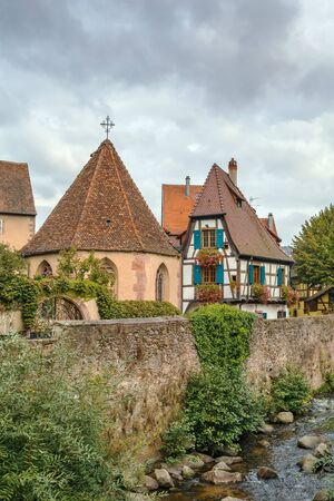 weiss: Oberhof Chapel on the Weiss River in Kaysersberg, Alsace, France