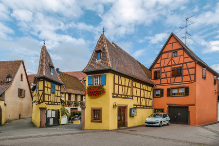 Exterior view of Joseph Freudenreich winery, Eguisheim, Alsace, France