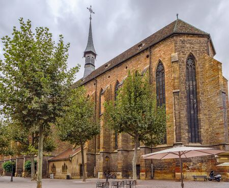 The construction of the Dominican church mainly dates back to the first half of the 14th century, Colmar, Alsace, France Stock Photo