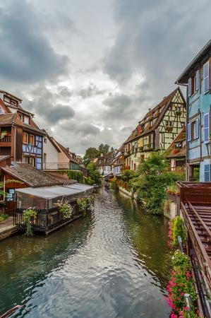 Area little Venice (la Petite Venise) in Colmar, Alsace, France