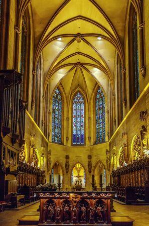 principal: The Eglise Saint-Martin (St. Martin church) is the main church and principal Gothic monument of Colmar, Haut-Rhin, France Editorial