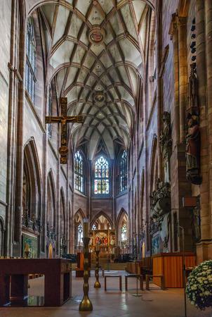 Freiburg Minster is the cathedral of Freiburg im Breisgau, Germany. Interior