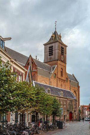 Hooglandse Kerk is a Gothic church in Leiden dating from the fifteenth century. The brick church is dedicated to St. Pancras. Netherlands  Lizenzfreie Bilder