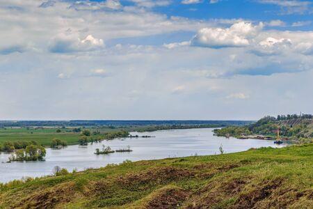 oka: View of the Oka river from the high bank near Konstantinovo village, Russia