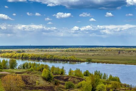 esenin: View of the Oka river from the high bank near Konstantinovo village, Russia