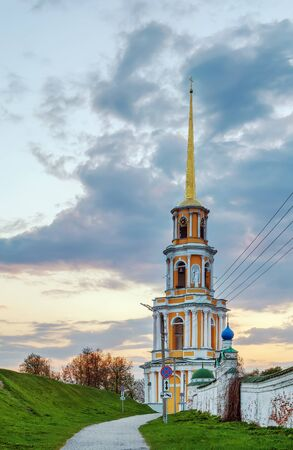 Cathedral bell tower in Ryazan Kremlin, Russia