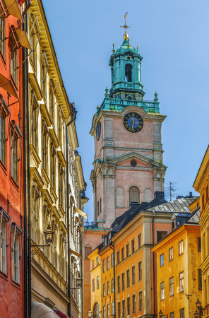 Church of St. Nicholas is the oldest church in Gamla Stan, the old town in central Stockholm, Sweden