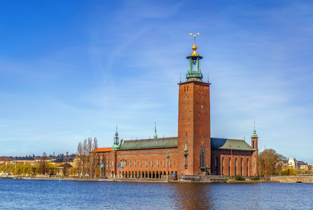 Stockholm City Hall is the building of the Municipal Council for the City of Stockholm in Sweden. It stands on the eastern tip of Kungsholmen island