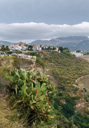 view of Ronda and surroundings from a height, Spain Stock Photo