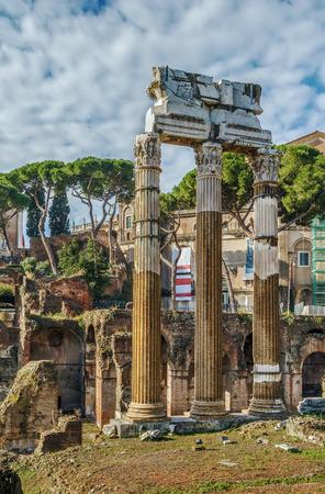 The Forum of Caesar and the Temple of Venus Genetrix, Rome Lizenzfreie Bilder