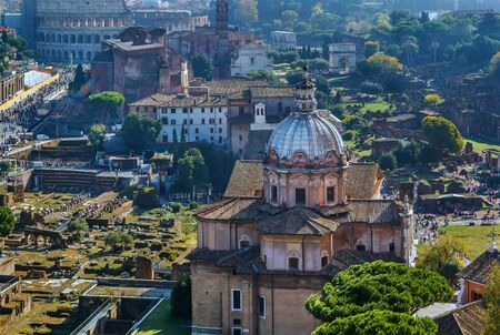 View of Roman forum from Monument to Victor Emmanuel II, Rome