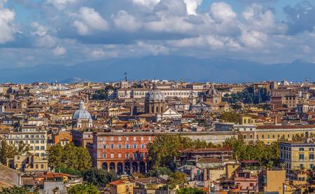 view of Rome from Janiculum Hill, Italy Lizenzfreie Bilder
