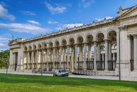 Basilica of Saint Paul Outside the Walls is one of Romes four ancient major basilicas or papal basilicas. Colonnades