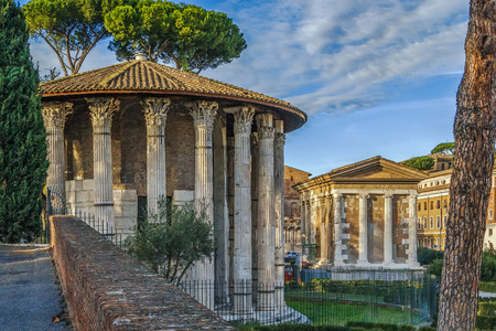 The Temple of Hercules Victor (Hercules the Winner) is an ancient edifice located in the area of the Forum Boarium close to the Tiber in Rome, Italy.