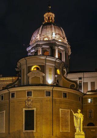 SantAmbrogio e Carlo al Corso (usually known simply as San Carlo al Corso) is a basilica church in Rome, Italy. Evening