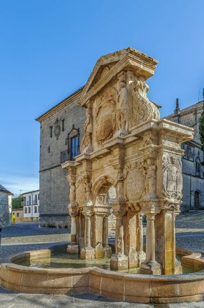 Santa Maria fountain was constructed in the second half of the 16th century,  Baeza, Spain