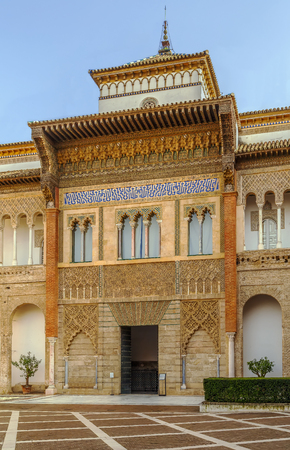 Mudejar Palace in Alcazar of Seville was built by Pedro I of Castile in 1364, Spain