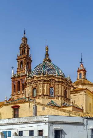 carmona: San Pedro Church was constructed in the 15th century in Carmona, Spain Stock Photo