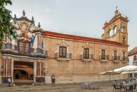 Palace of Benameji in Ecija (province of Seville), is one of the fundamental works of the civil architecture of the XVIII century in Andalusia, Spain Standard-Bild
