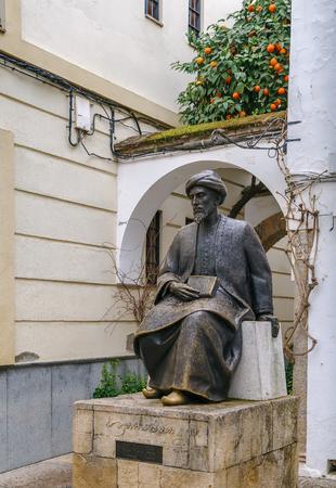 sephardic: Statue of Moses Maimonides was a medieval Sephardic Jewish philosopher, Cordoba, Spain Editorial