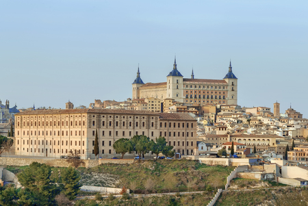 The Alcazar of Toledo is a stone fortification located in the highest part of Toledo, Spain Lizenzfreie Bilder