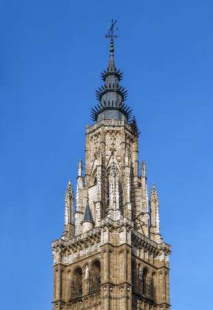 Tower of  Cathedral of Saint Mary of Toledo, Spain