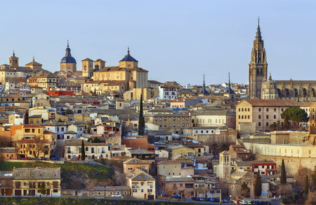View of Toledo historical center with cathedral, Spain