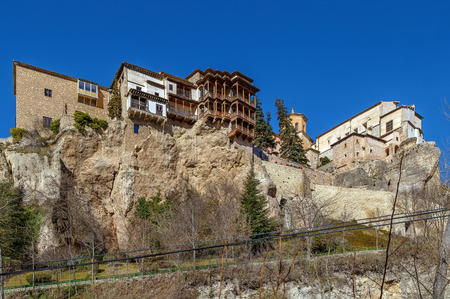 Hanging houses is complex of houses on rock in Cuenca, Spain
