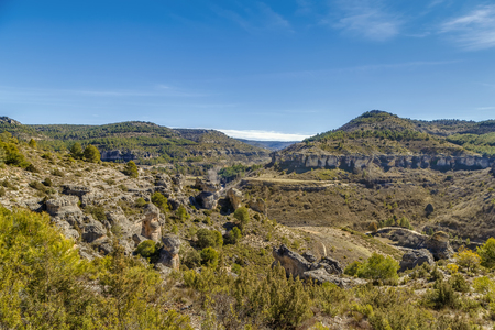 View of the rocks near the Cuenca city, Spain Lizenzfreie Bilder