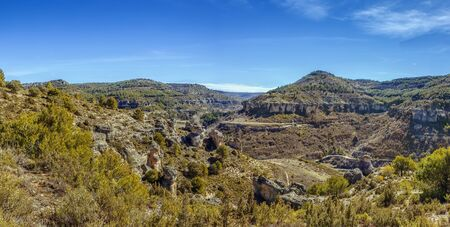 Panoramic view of the rocks near the Cuenca city, Spain