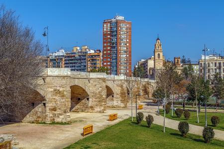 Serranos Bridge  was built in 1518 in Valencia, Spain