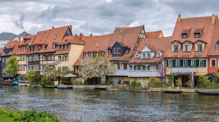 The former fishermens district in Bambergs Island City is endearingly known as Little Venice, Germany Editorial
