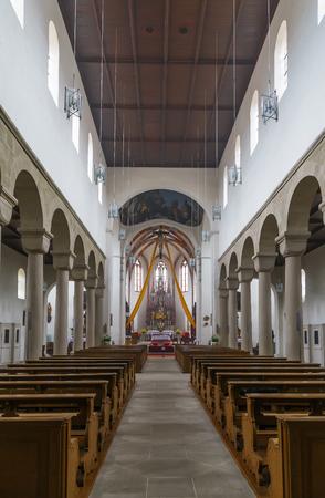 st german: Romanesque interior of St. Jakob Church, Bamberg, Germany Stock Photo