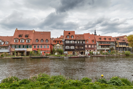 The former fishermens district in Bambergs Island City is endearingly known as Little Venice, Germany Stock Photo