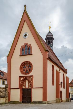 St. Elisabeth church in Bamberg city center, Germany
