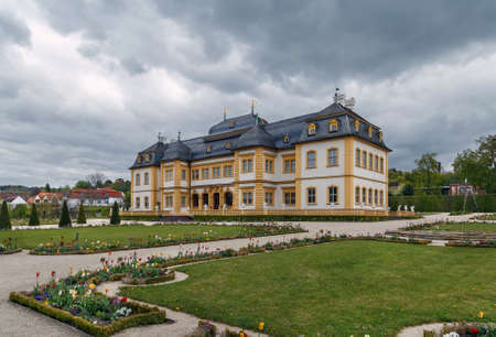 Veitshochheim summer palace of the Wurzburg Prince-Bishops, built in 168082, was enlarged in 1753 by Balthasar Neumann, Germany Editorial
