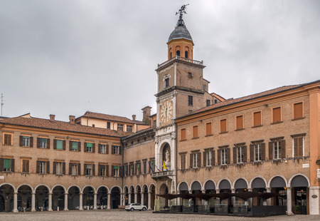 Town Hall of Modena was put together in the 17th and 18th centuries from several pre-existing edifices built from 1046 as municipal offices Editorial