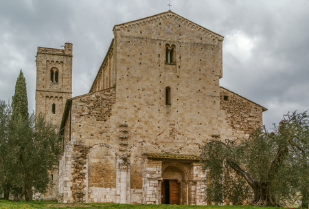 The Abbey of Sant Antimo is a former Benedictine monastery in the comune of Montalcino, Tuscany, Italy