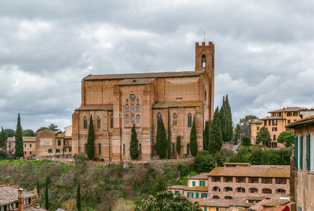 The Basilica of San Domenico, also known as Basilica Cateriniana, is a basilica church in Siena, Tuscany, Italy, one of the most important in the city.