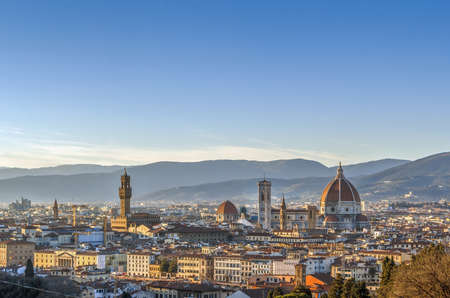michelangelo: Cityscape of Florence from Michelangelo hill, Italy
