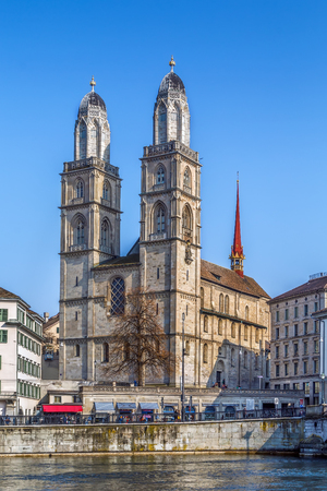 The Grossmunster is a Romanesque-style Protestant church in Zurich, Switzerland. It is one of the three major churches in the city