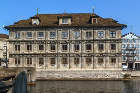 The Zurich town hall is the Rathaus of Zurich, Switzerland. It was built in 1694-1698