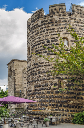 Sterntor tower  is reconstruction of a city wall gate in medieval Bonn, Germany