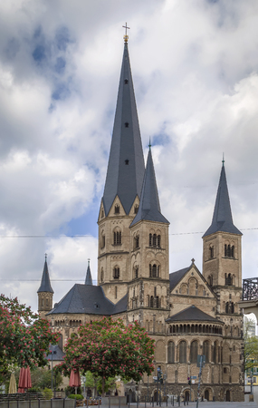 The Bonn Minster is a Roman Catholic church in Bonn. It is one of Germany oldest churches, having been built between the 11th and 13th centuries. Editorial