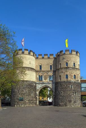 Hahnentorburg is one of the medieval city gates of Cologne, Germany