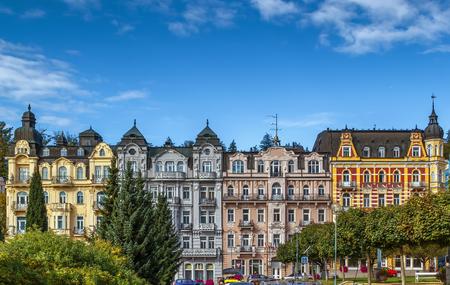 Marianske Lazne 도심, 체코 공화국의 거리