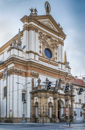 Church of St. Ignatius was built in Early Baroque style in  Prague, Czech republic