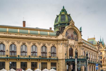 Municipal House is a civic building in  Art Nouveau architecture style, Prague, Czech republic